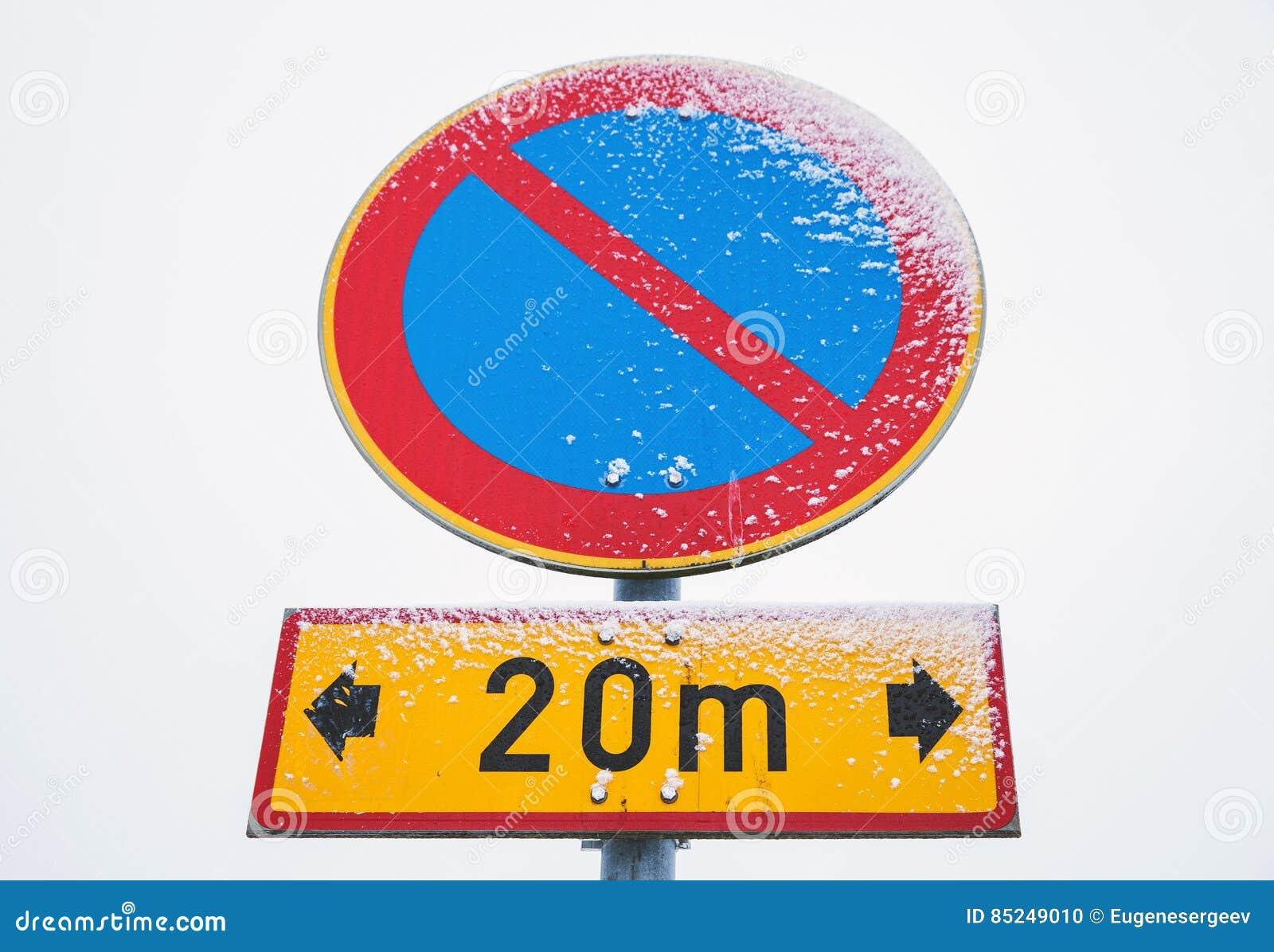 No parking zone round road sign stock photo image of alert royalty free stock photo buycottarizona Images