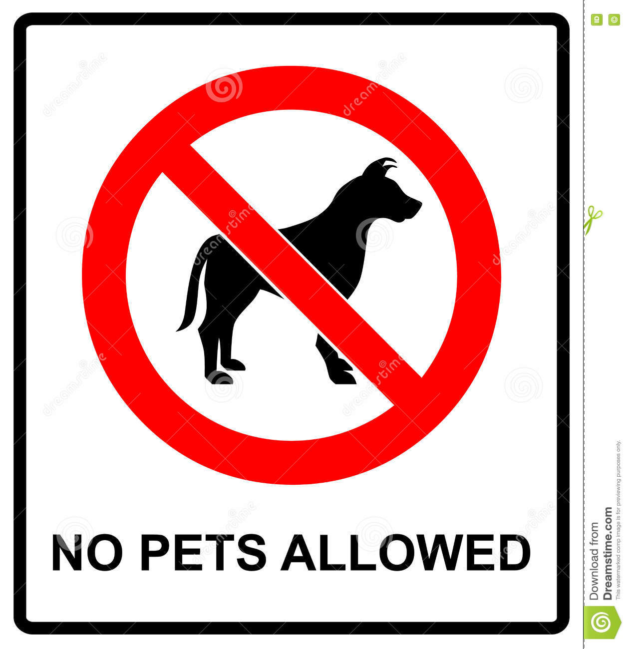 no pet allowed sign illustration vector no dogs please warning