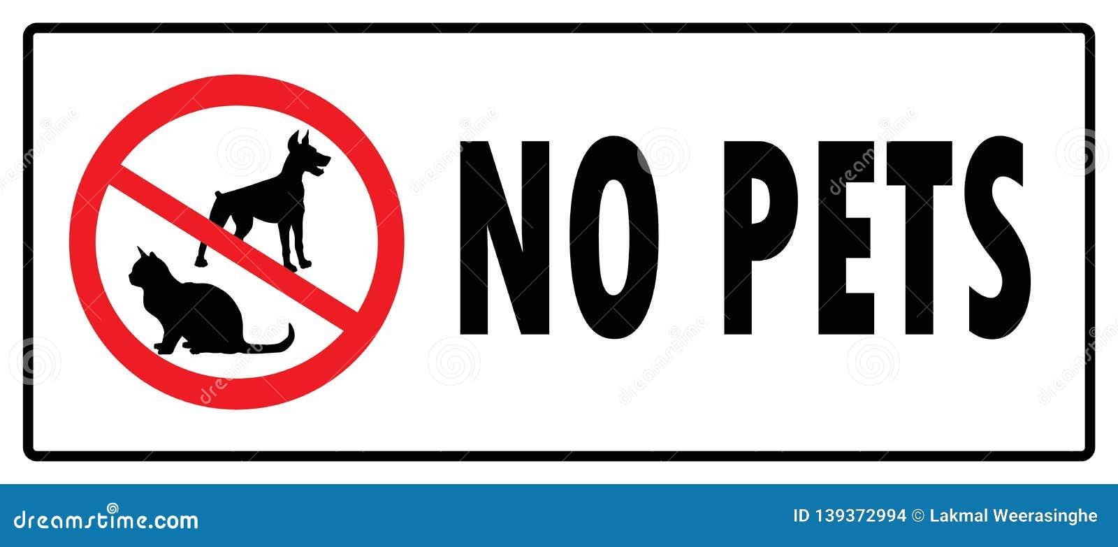 No pets symbol.No Dogs sign and No Cats sign
