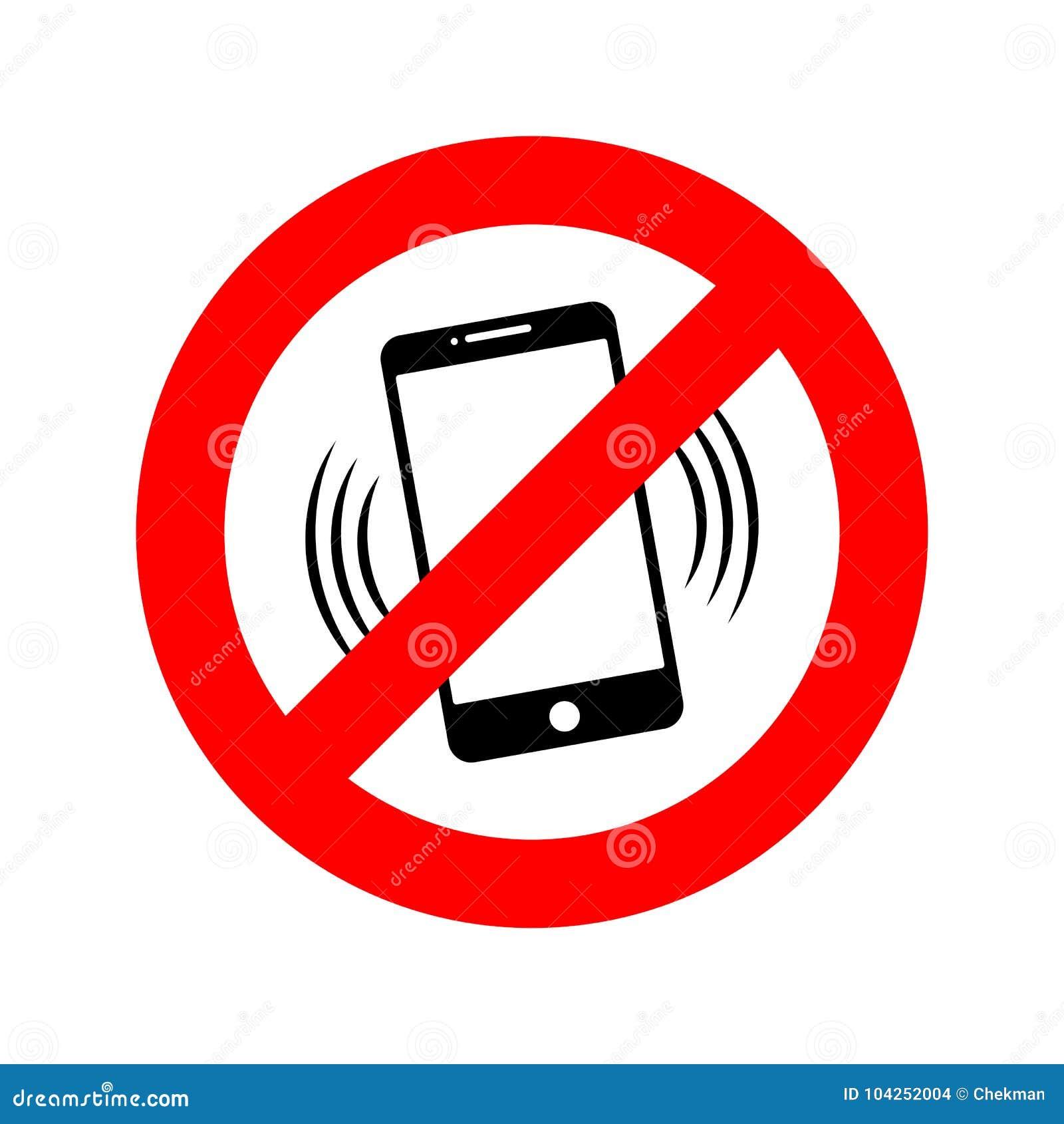download no phone sign vector illustration stock illustration illustration of round button