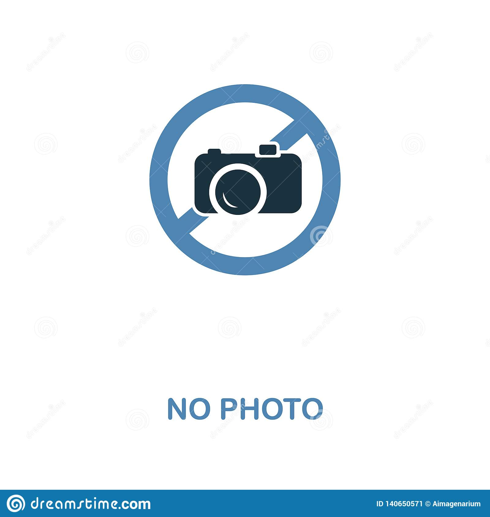 No Photo icon. Monochrome style design from shopping center sign icon collection. UI. Pixel perfect simple pictogram no