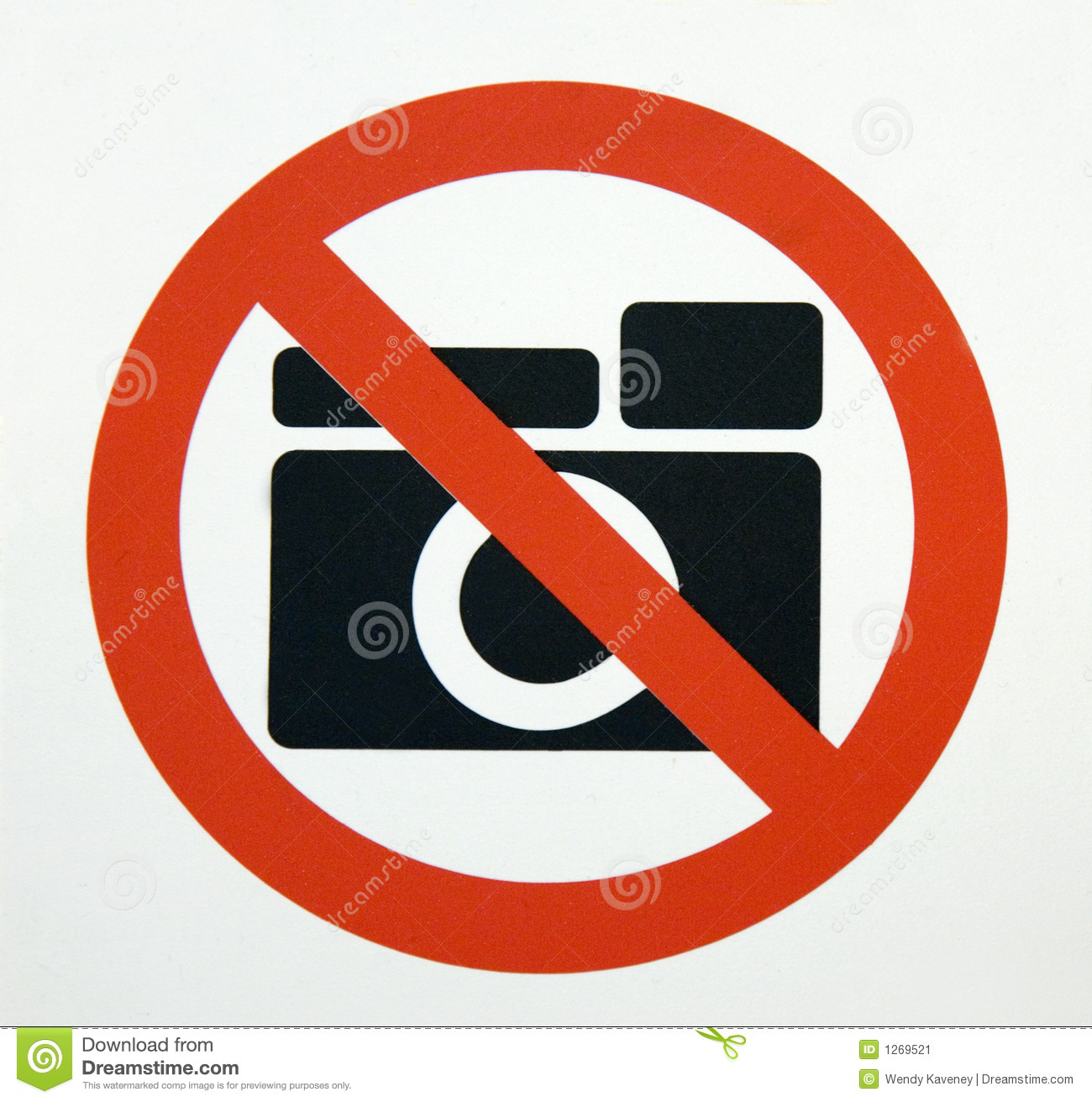 No Photography Stock Image Image Of Allowed Picture 1269521