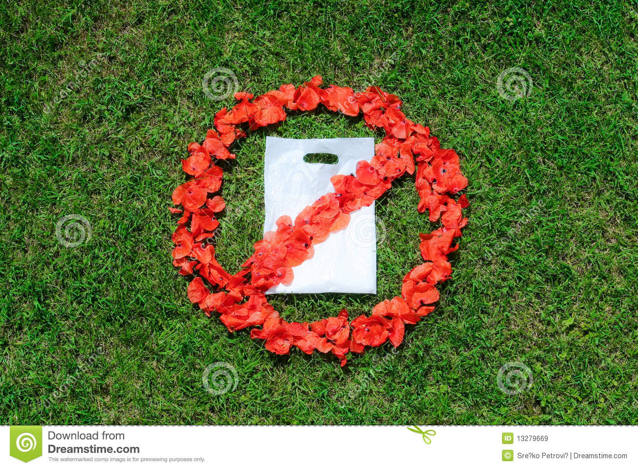 No Plastic Bag Sign Royalty Free Stock Images Image