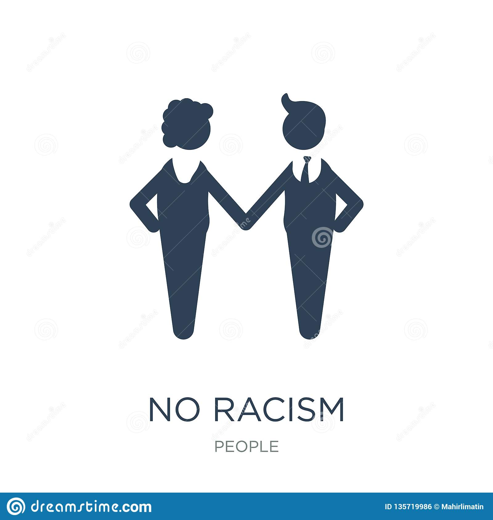 no racism icon in trendy design style. no racism icon isolated on white background. no racism vector icon simple and modern flat
