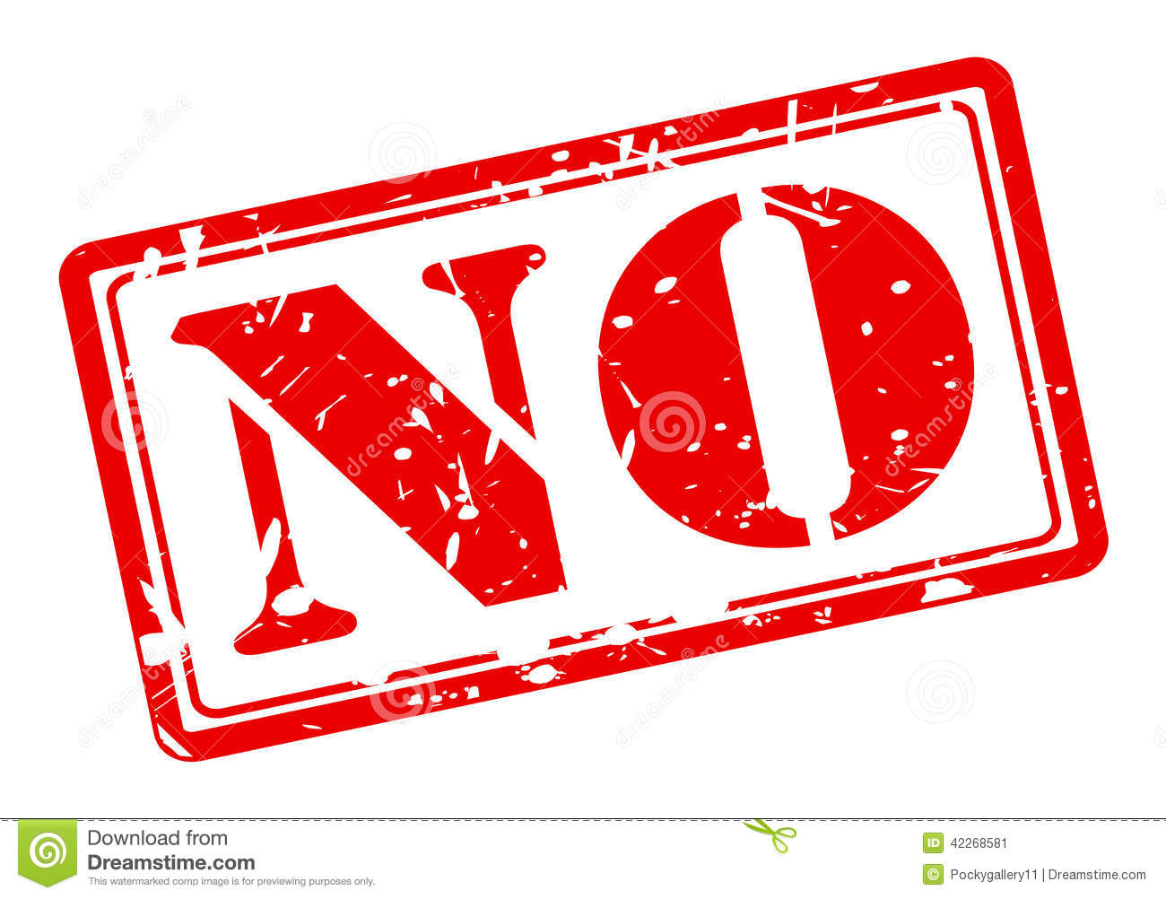 NO Red Stamp Text Stock Vector - Image: 42268581