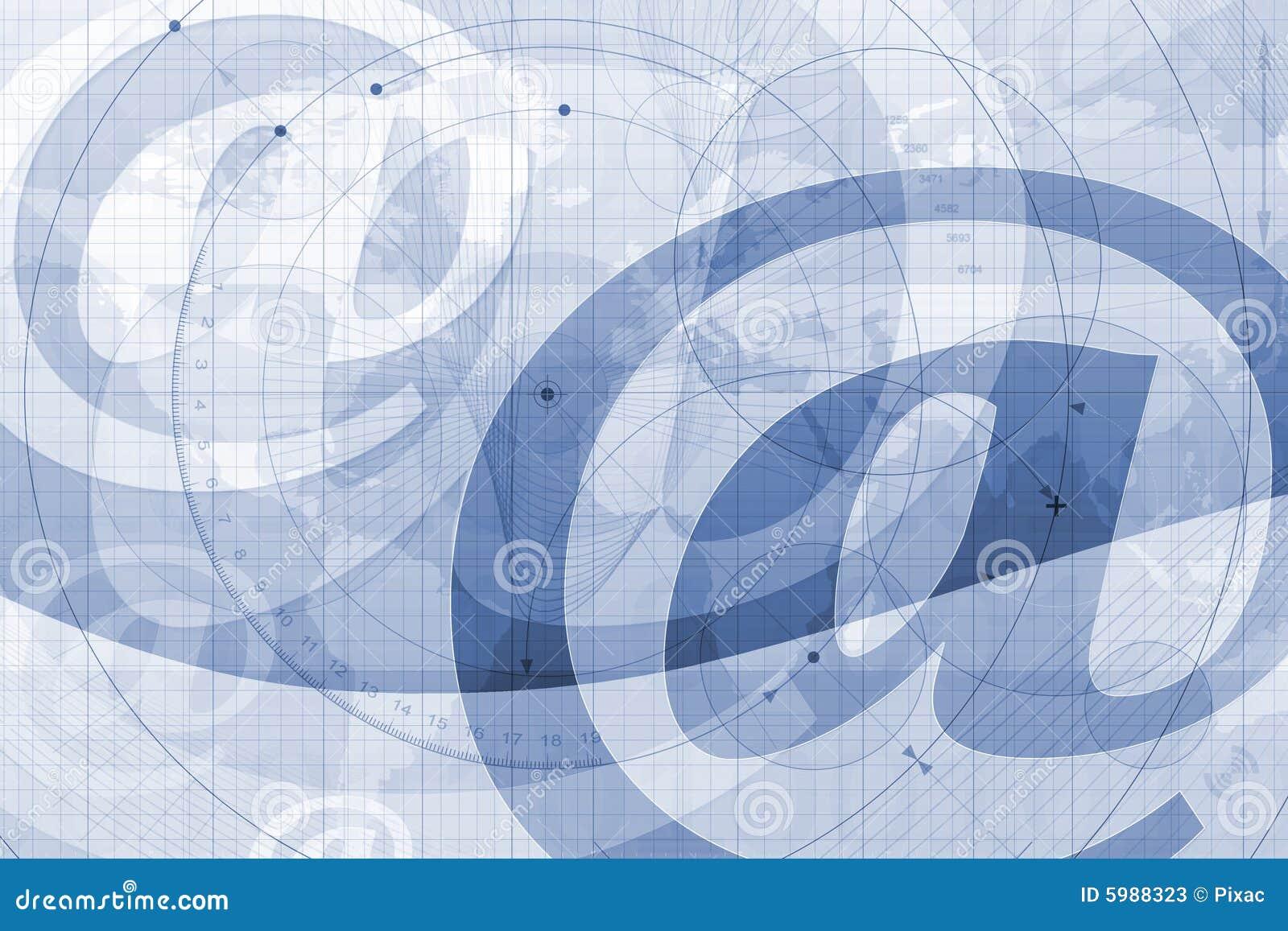 No símbolo do email