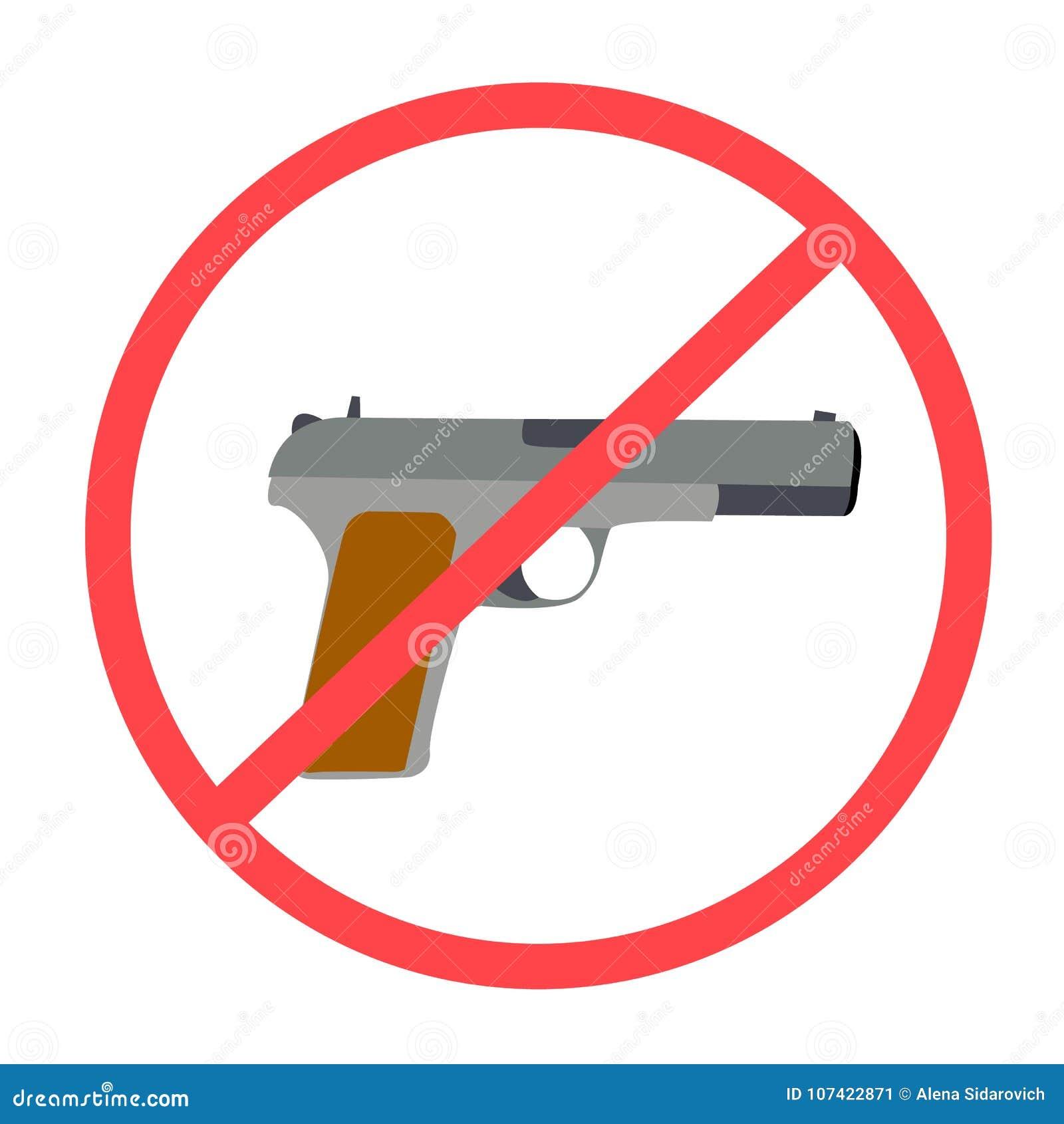 No se permite ningunas armas o las armas