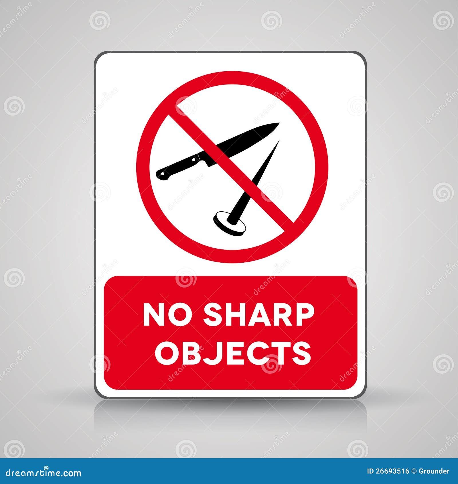 No sharp objects vector sign illustration 26693516 megapixl buycottarizona Choice Image