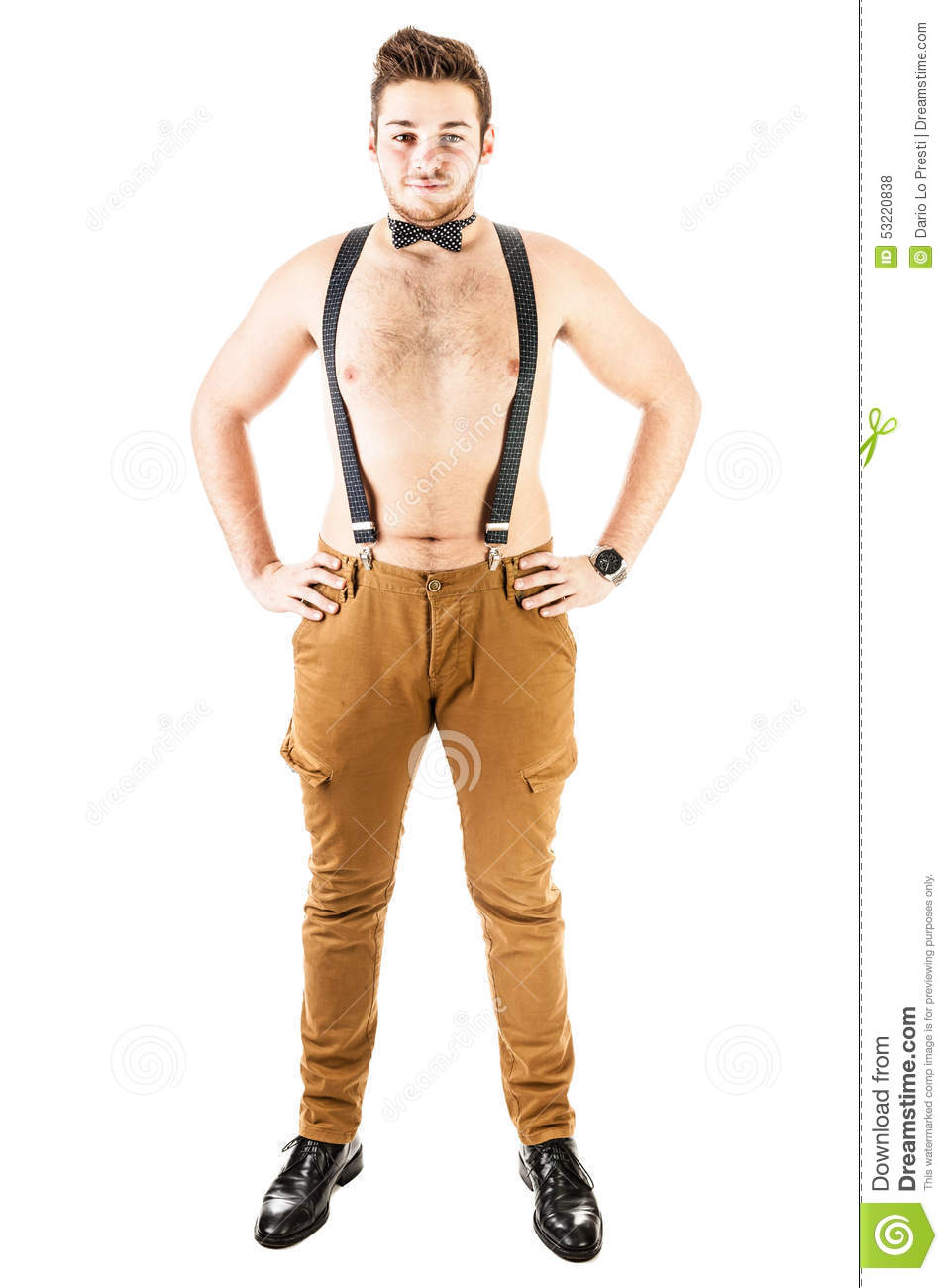 No Shirt And Ready For Party Stock Photo Image Of Character Male