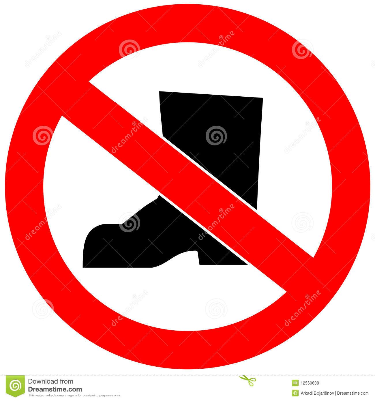 No Shoes Royalty Free Stock Photos - Image: 12560608