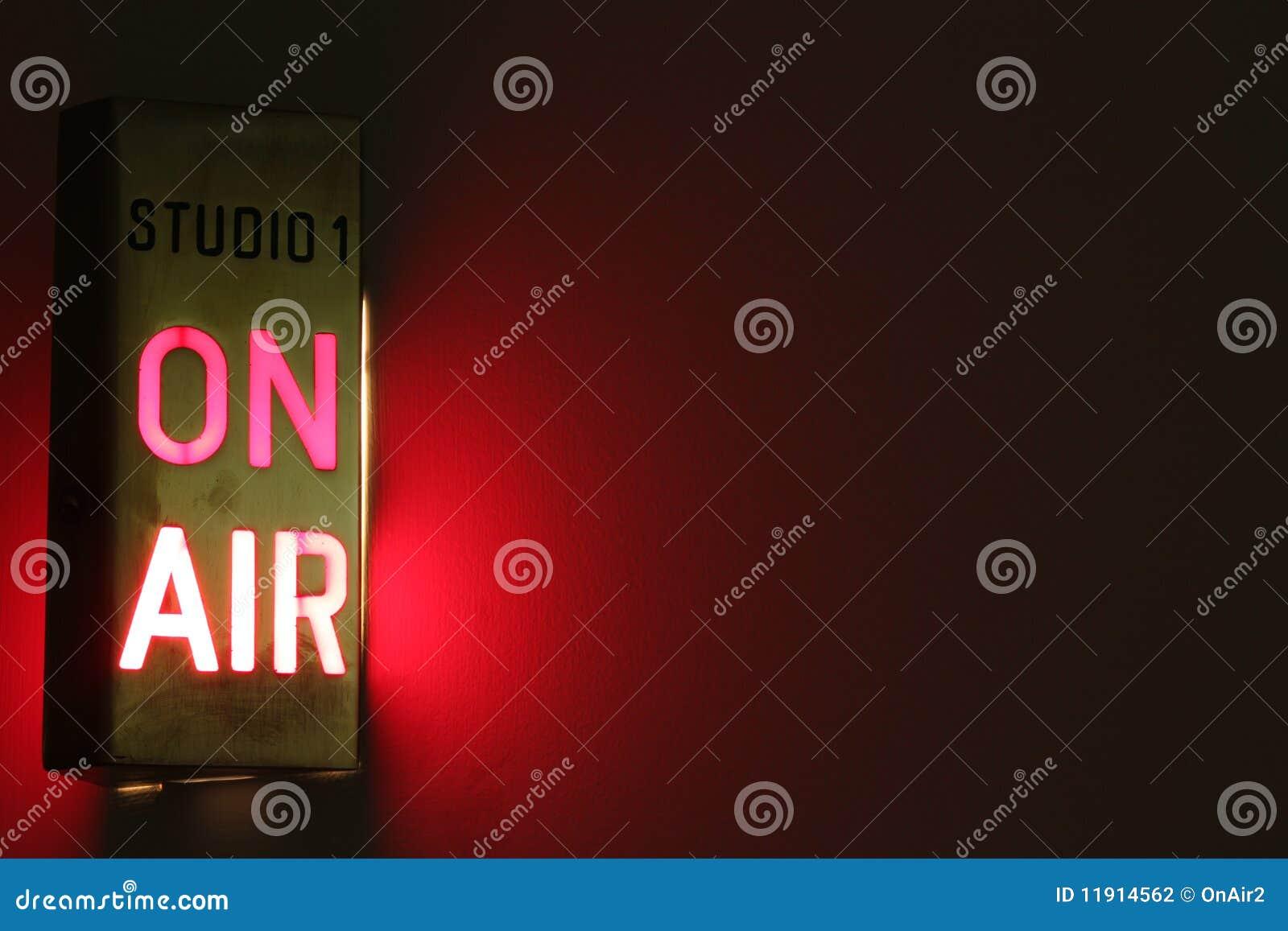 No sinal do estúdio do ar