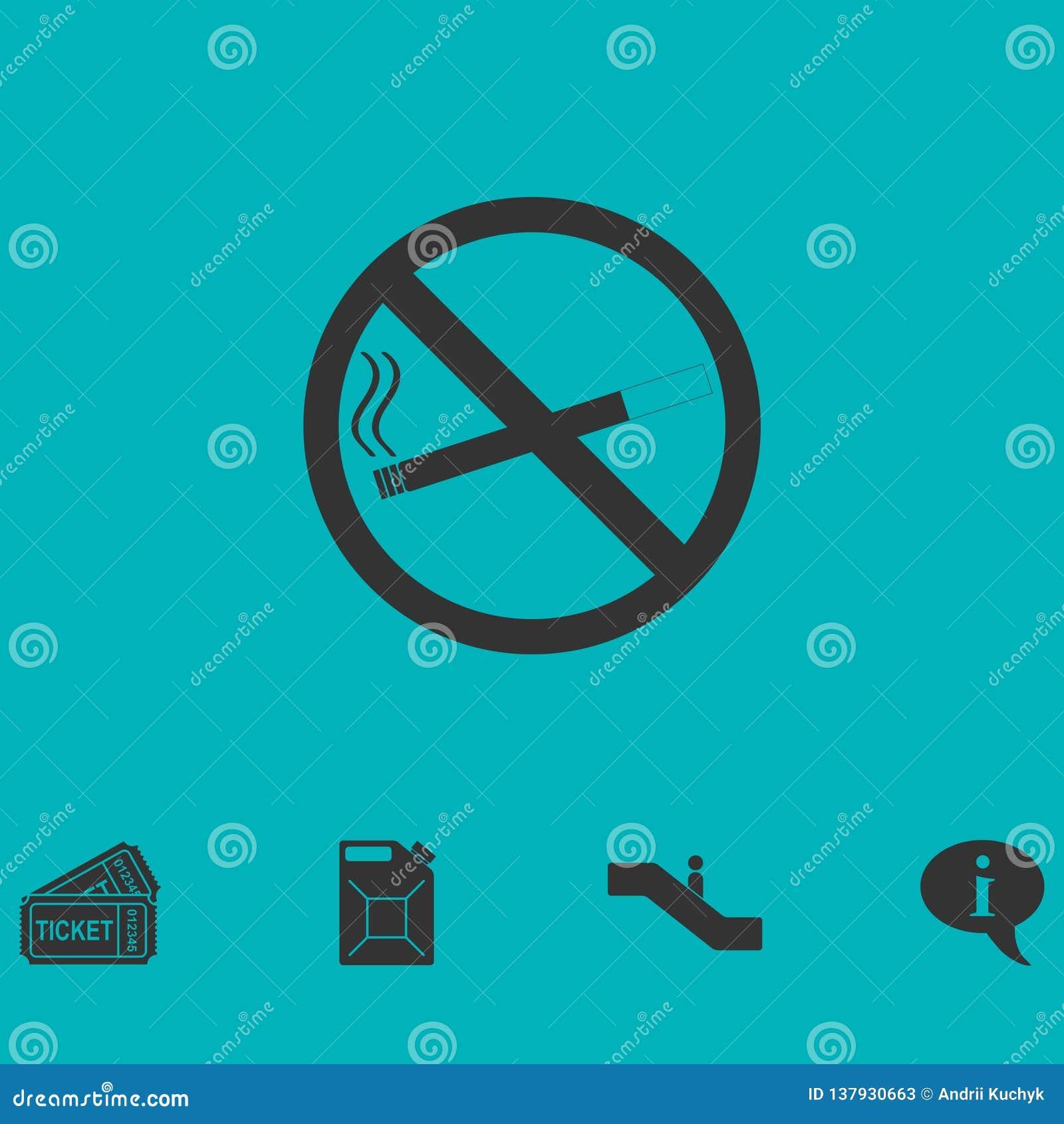 No smoking icon flat