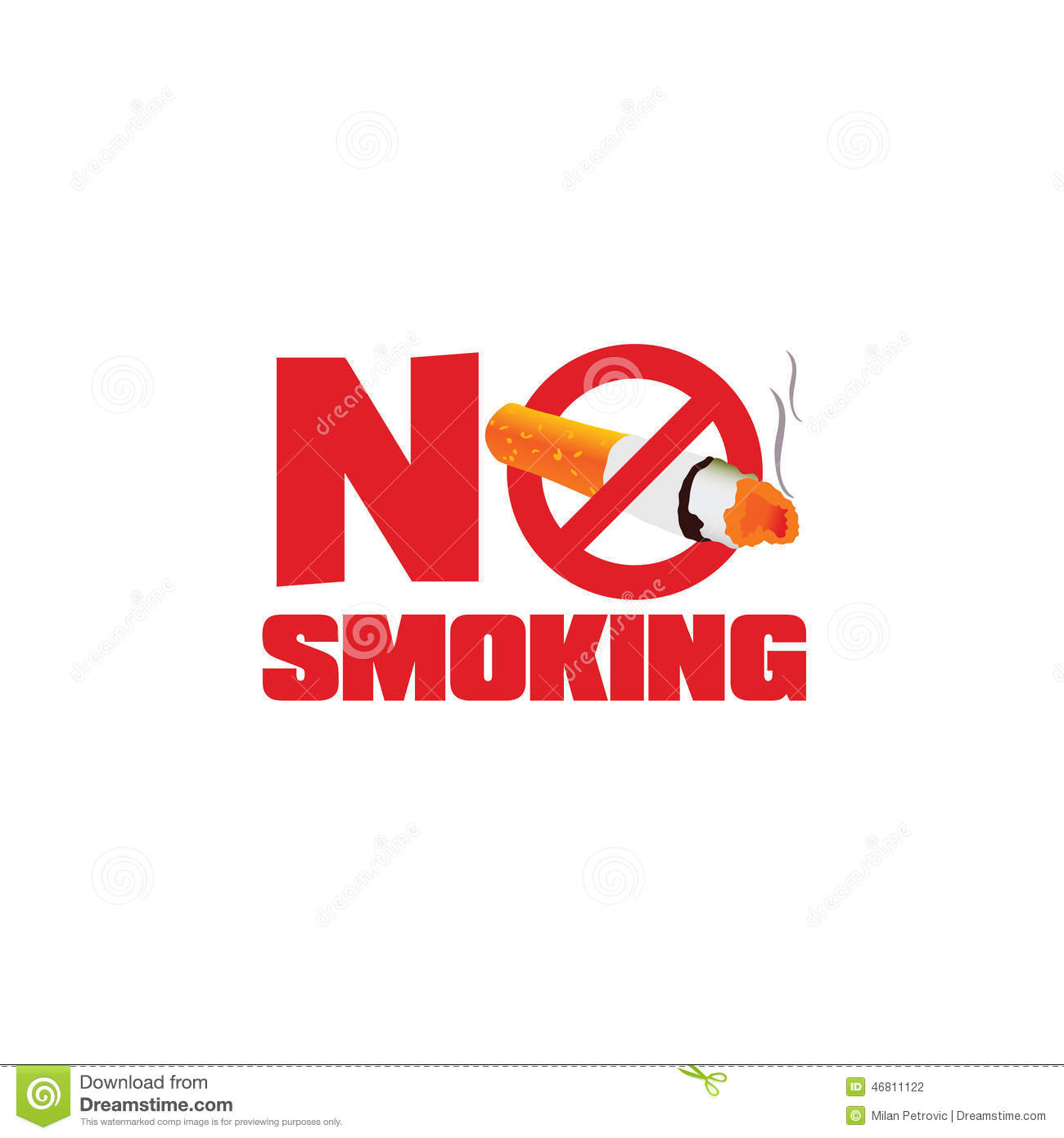 No Smoking Sign Color Vector Stock Vector - Image: 46811122