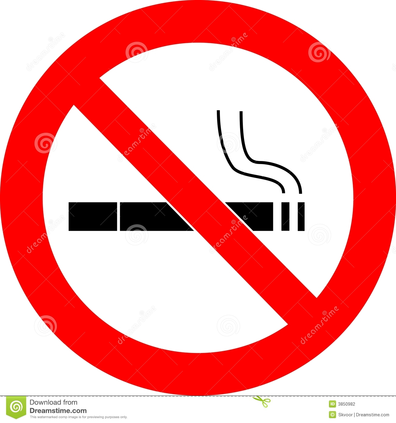 No Smoking Sign Vector Stock Photography - Image: 3850982