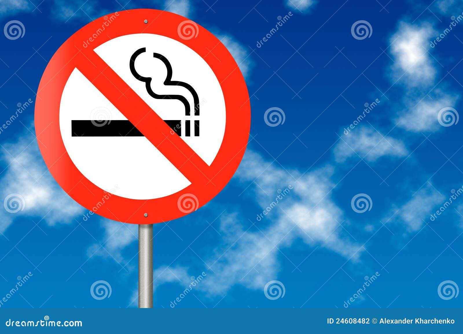 No Smoking traffic sign