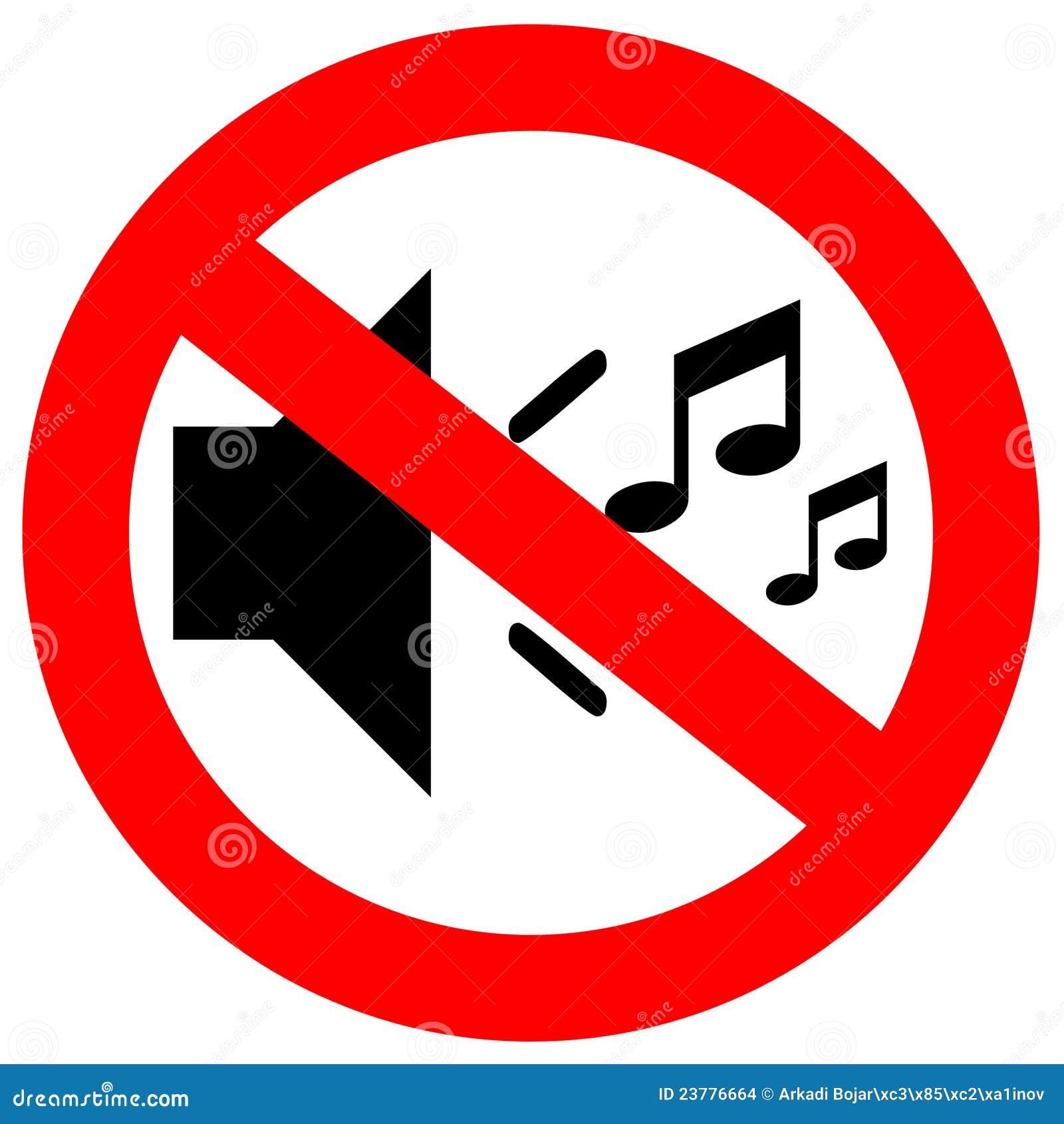 no sound sign stock illustration image of forbidden 23776664 Quiet Zone Signs Clip Art Clip Art Quiet Voices