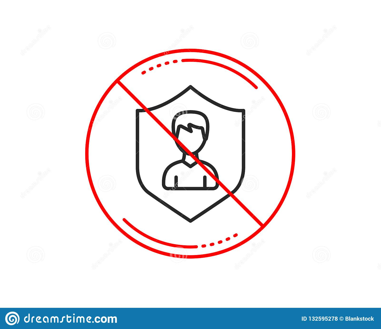User Protection line icon. Male Profile sign. Vector