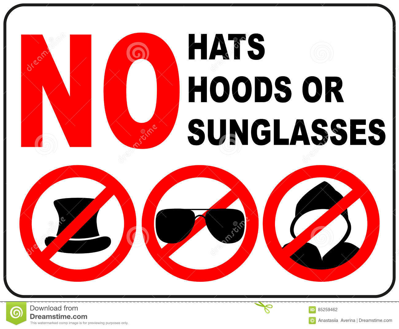 No sunglasses sign on white background stock vector no sunglasses sign on white background buycottarizona