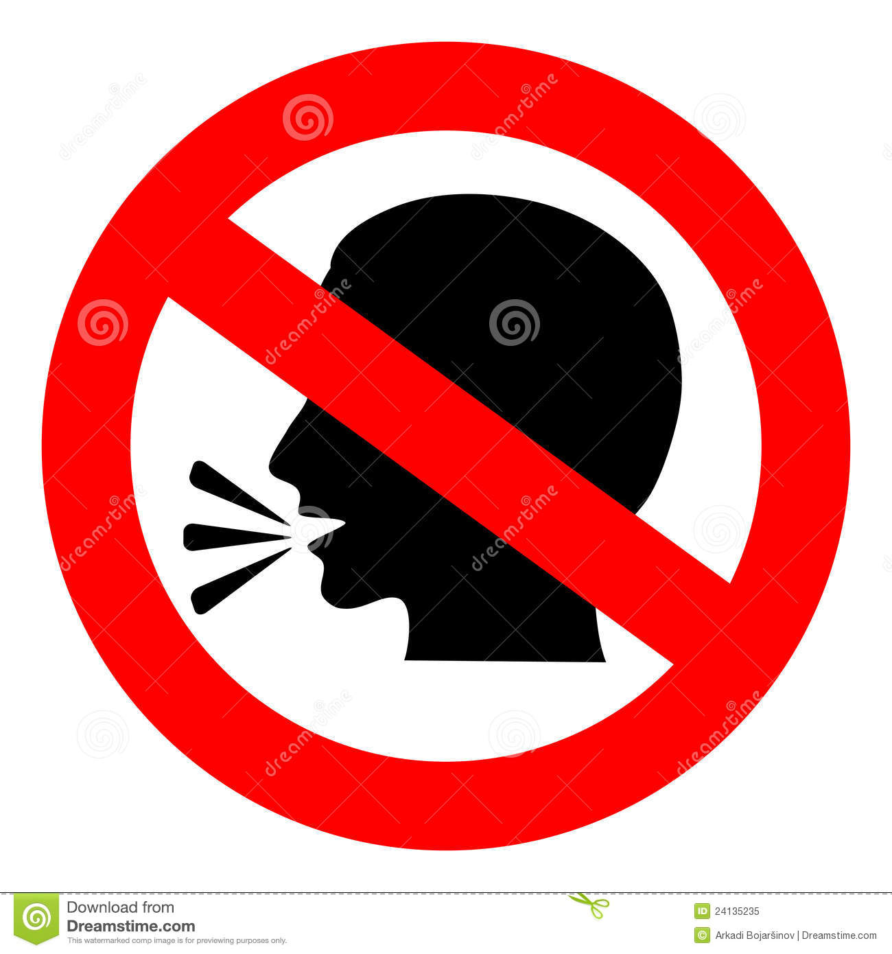No Talking Sign Royalty Free Stock Photo - Image: 24135235