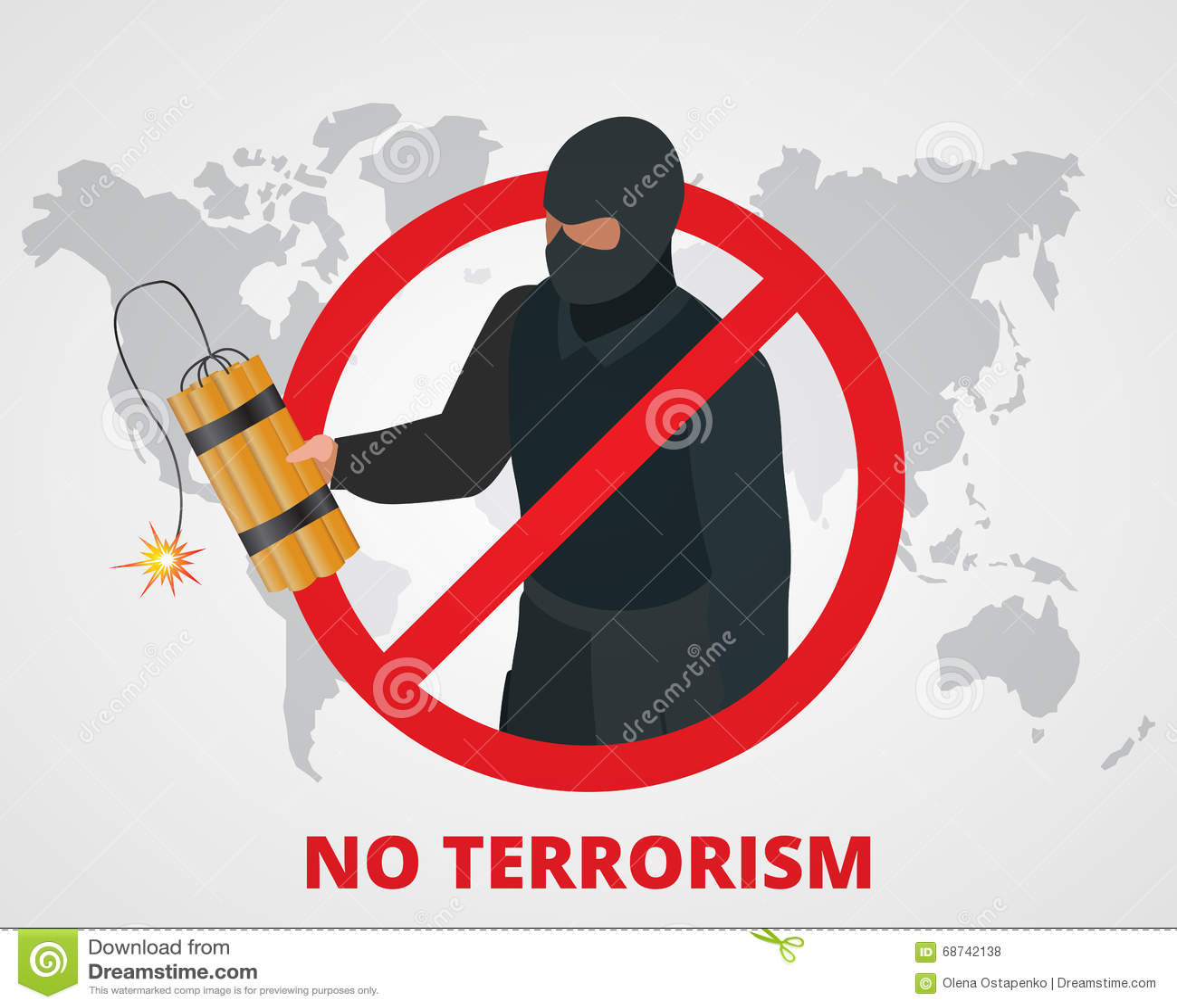 No Terrorism. Stop Terror Sign Anti Terrorism Campaign ... No Terrorism