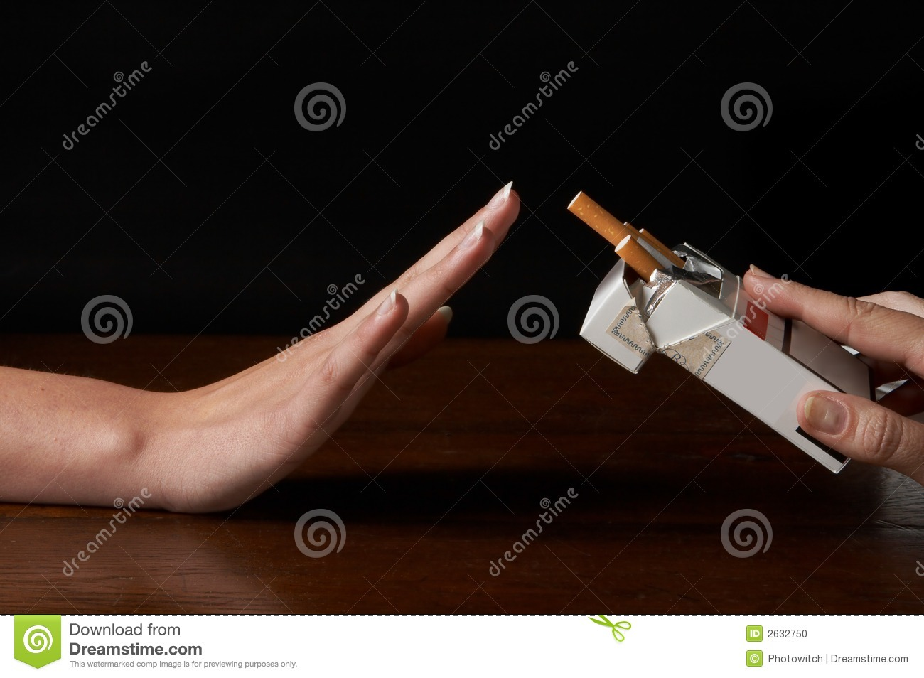 Download No thanks stock photo. Image of stop, cigarette, resist - 2632750