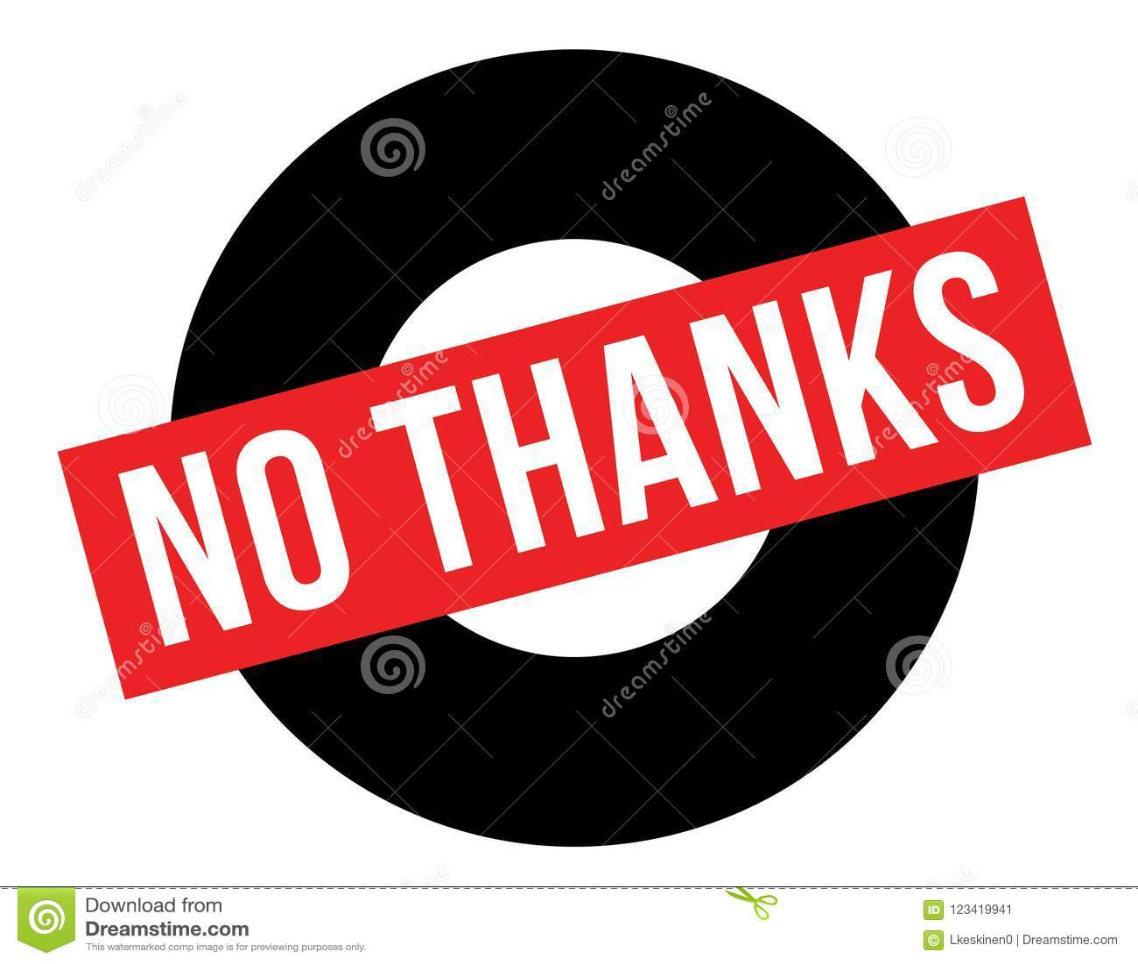 No Thanks Stamp On White Stock Vector Illustration Of Thanks