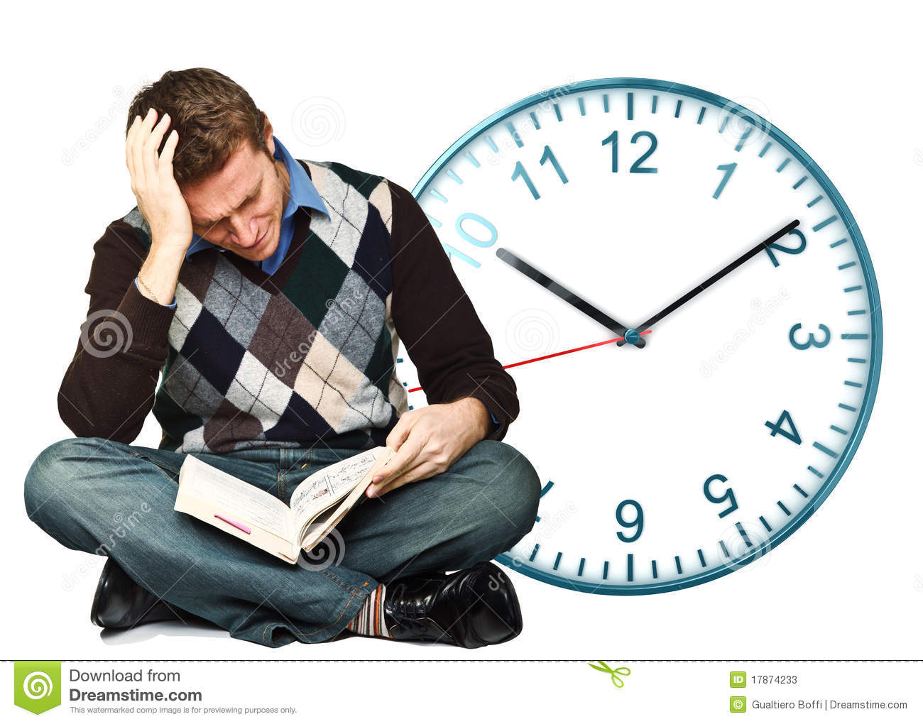No time to study stock image image of minute student 17874233 no time to study altavistaventures Images
