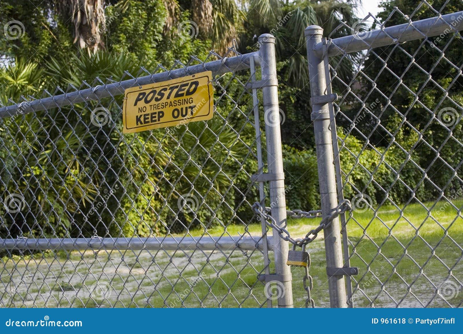 broken fence warning announcement - photo #37