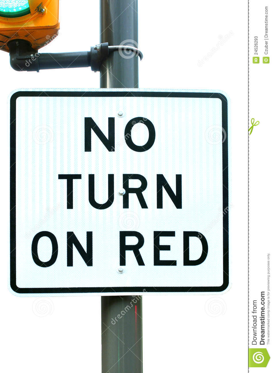 No Turn On Red Stock Photos Image 24526293