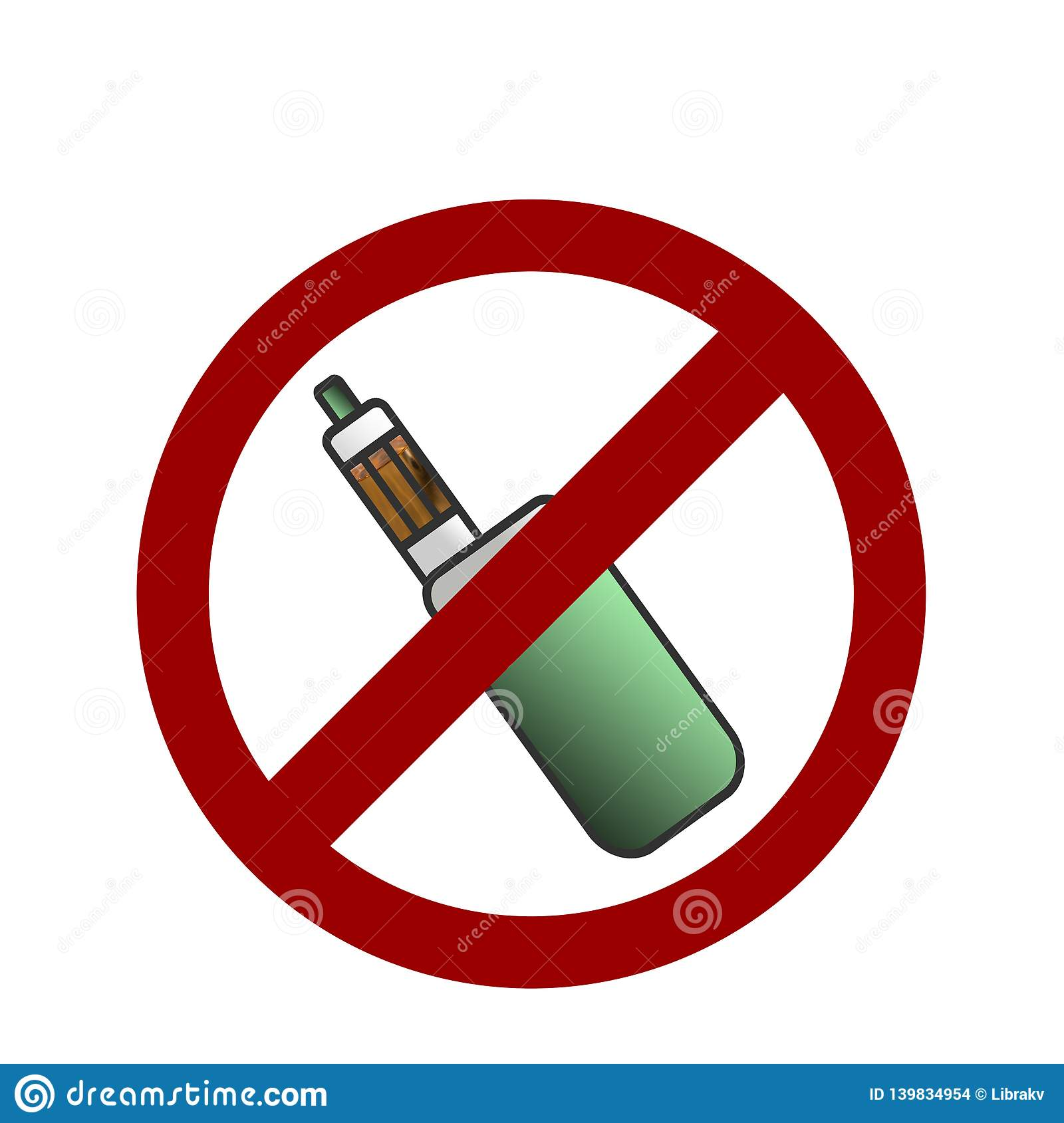 No vaping area notification sign