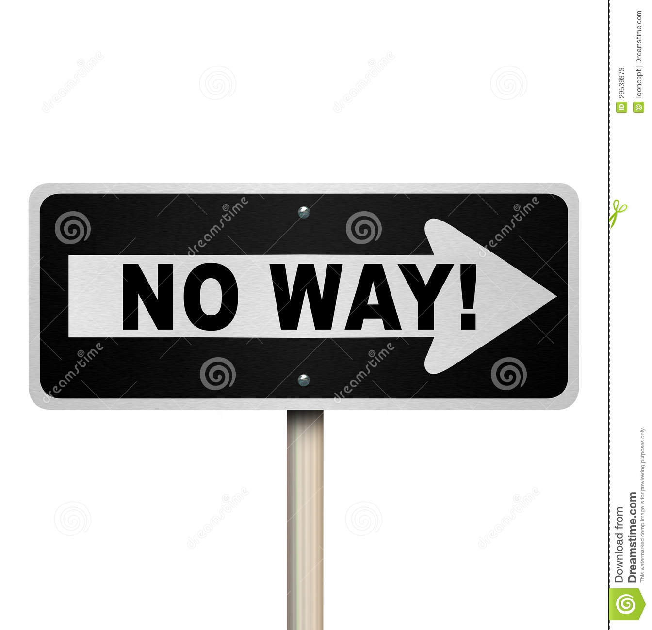 No Way One Street Road Sign Denial Rejection Stock