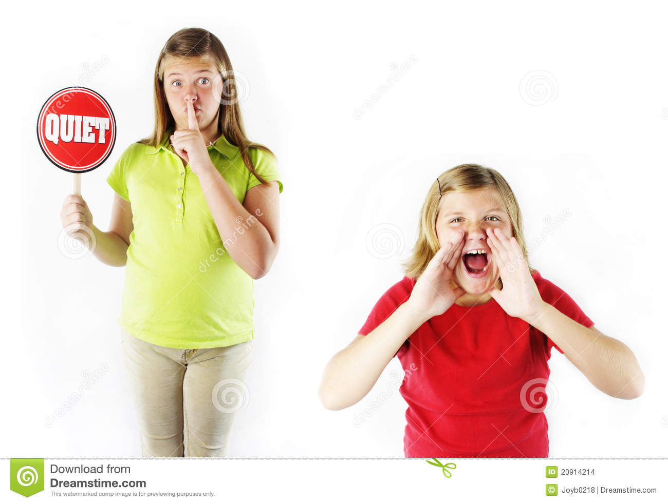 No Yelling! stock photo. Image of yell, sign, hands, loud ...