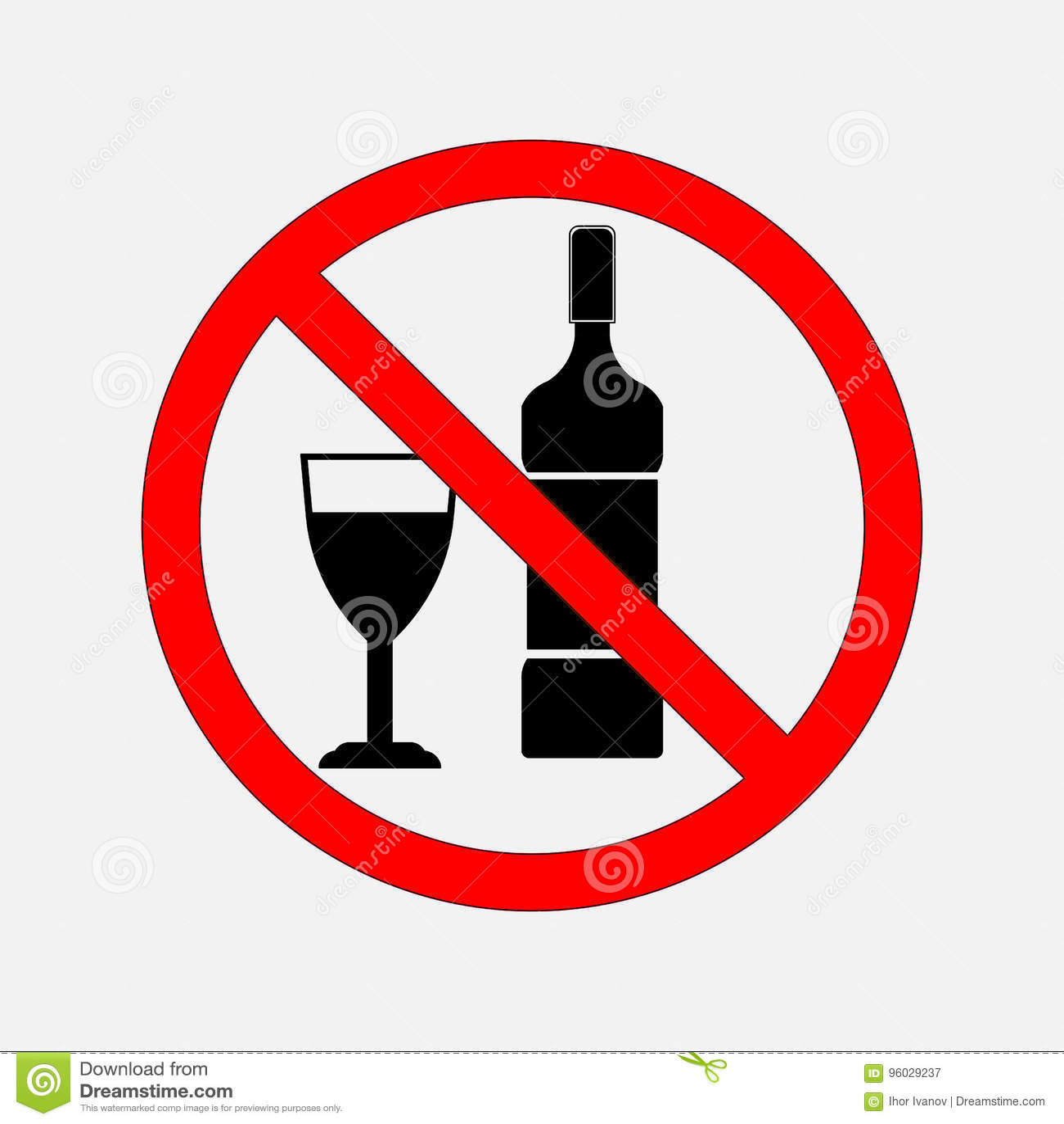 No zabraniać znaków jedzenie i alkohol, żadny alkohol, żadny alcoh