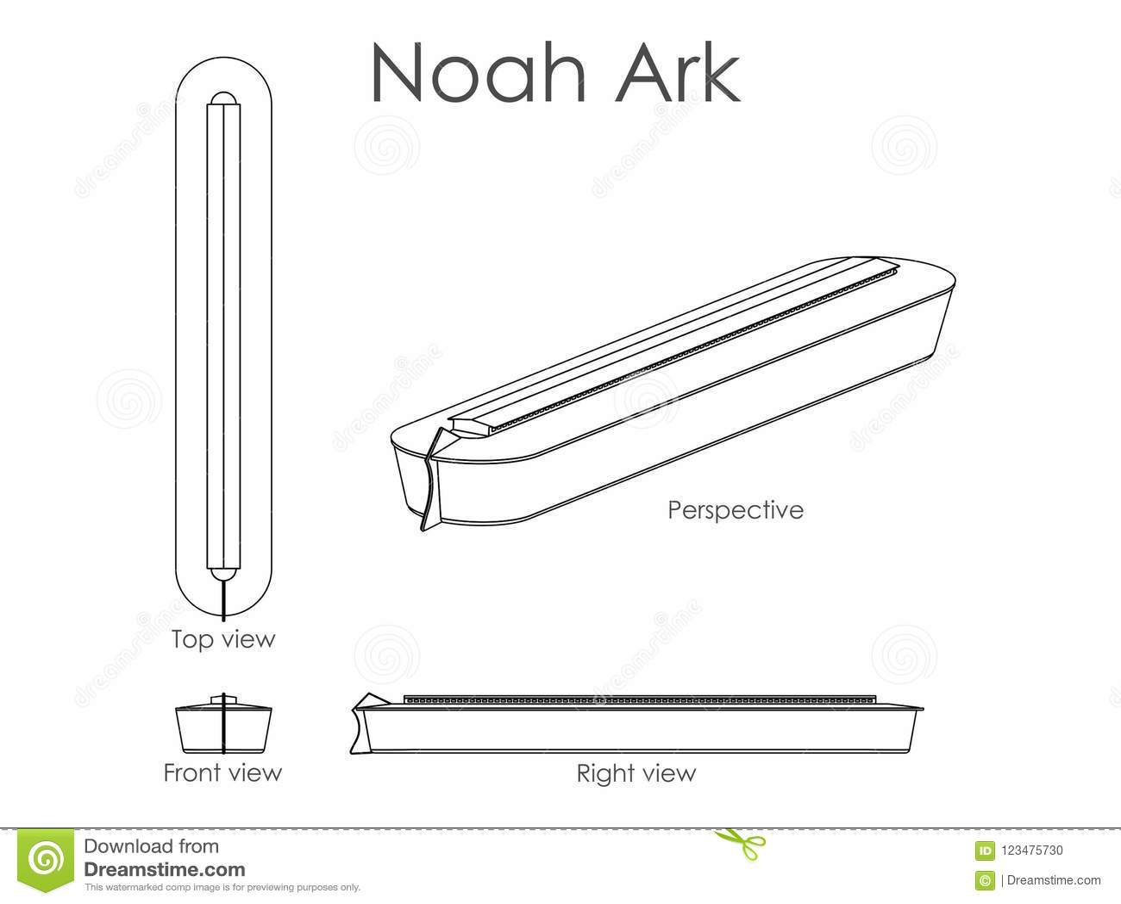 Noah Ark outline only