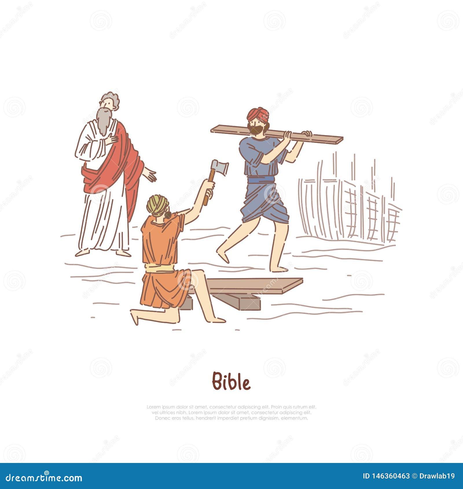 Noah Building Ark Myth, Legend, Bible Story Plot, Saint Biblical