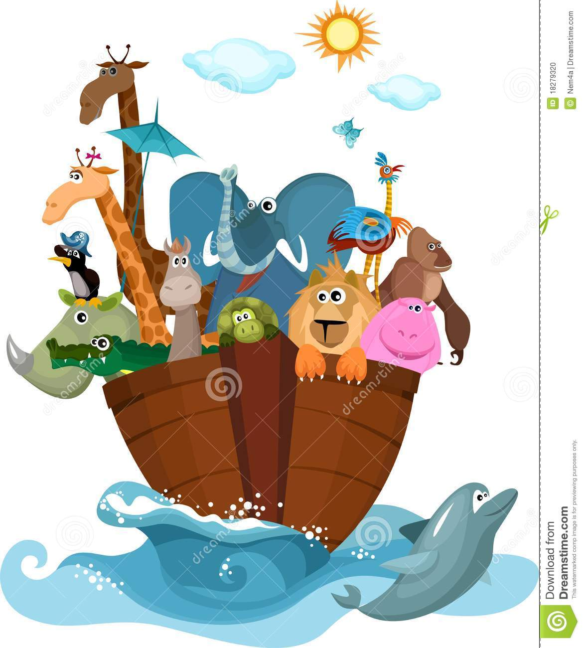 Noah S Ark Stock Vector Illustration Of Boat Structure