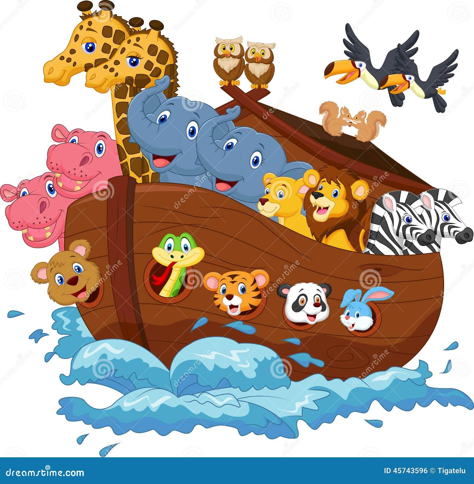 noahs ark cartoon stock vector image 45743596