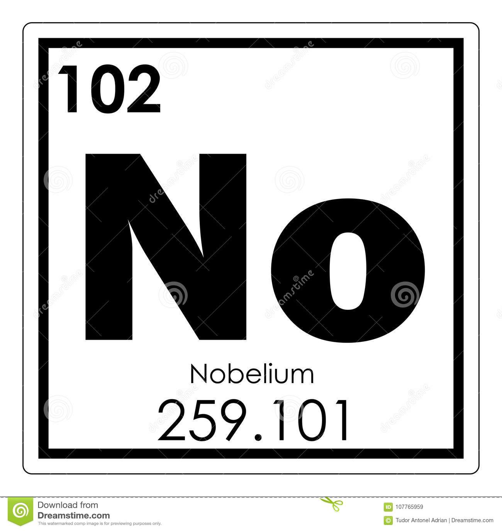 Nobelium Chemical Element Stock Illustration Illustration Of Geek