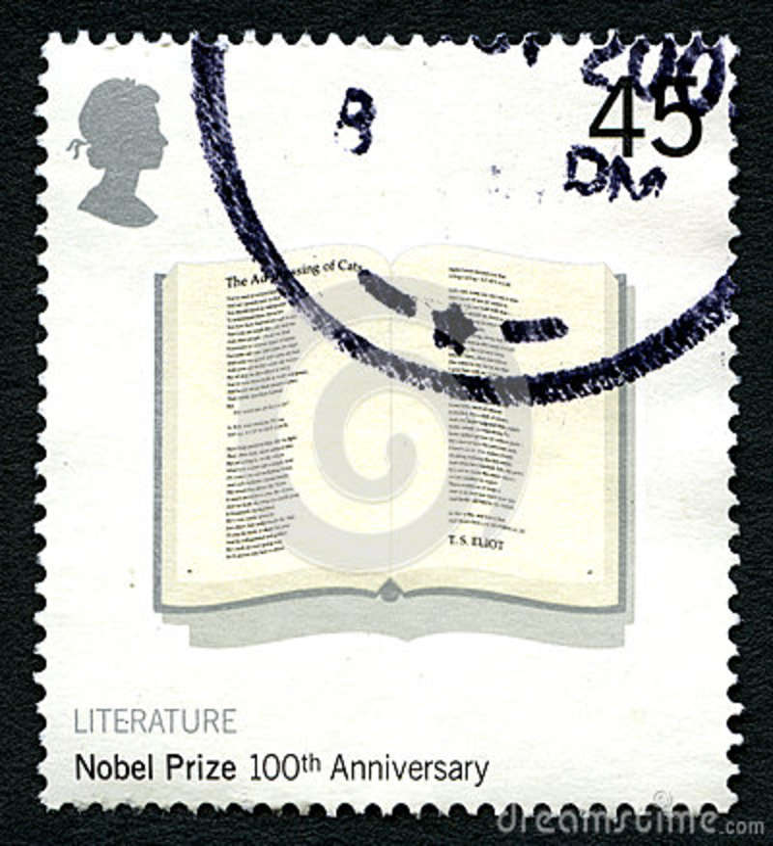 Nobelpreis-100. Jahrestags-BRITISCHE Briefmarke