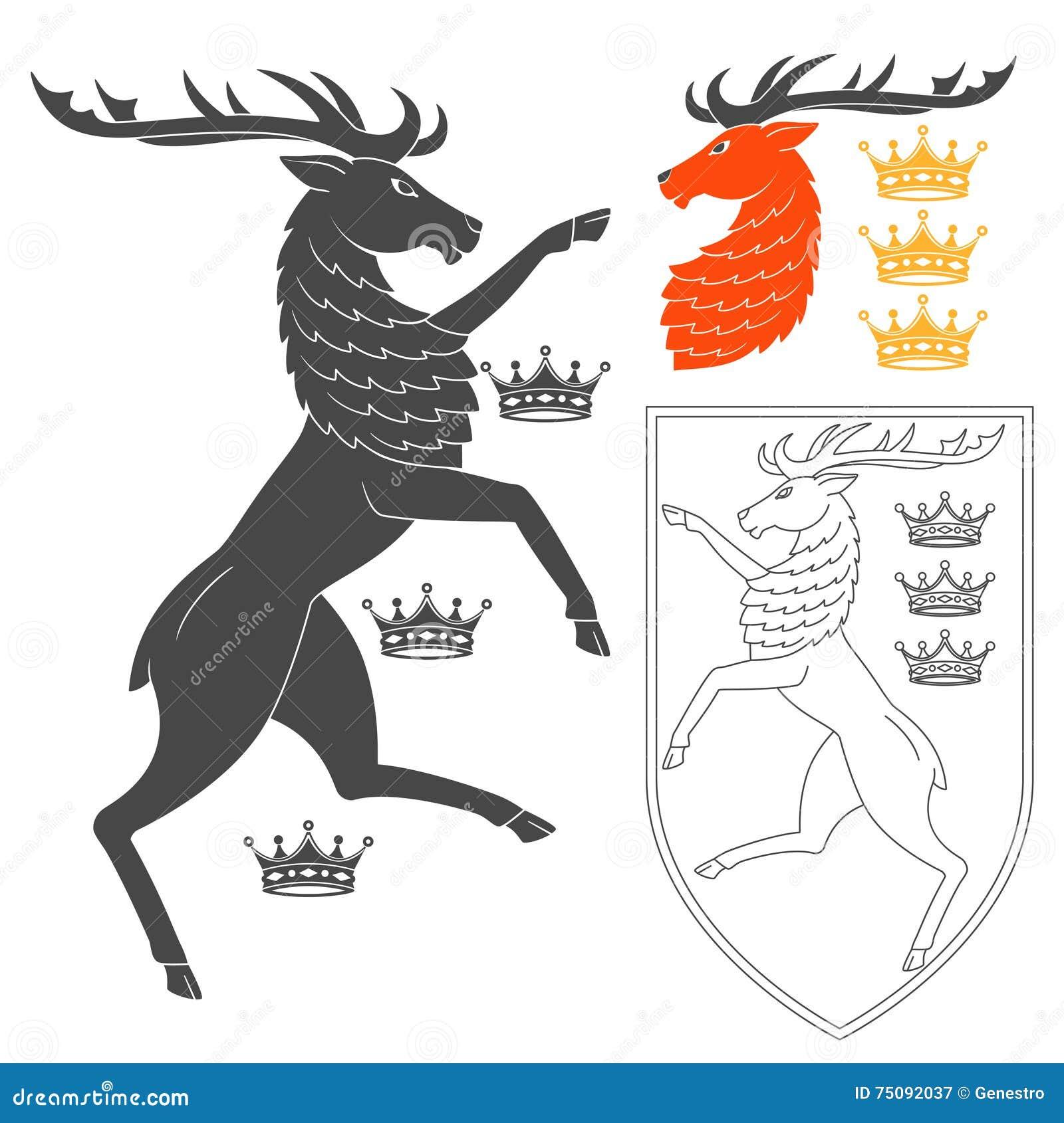 Noble Deer Illustration Stock Vector Illustration Of Illustration