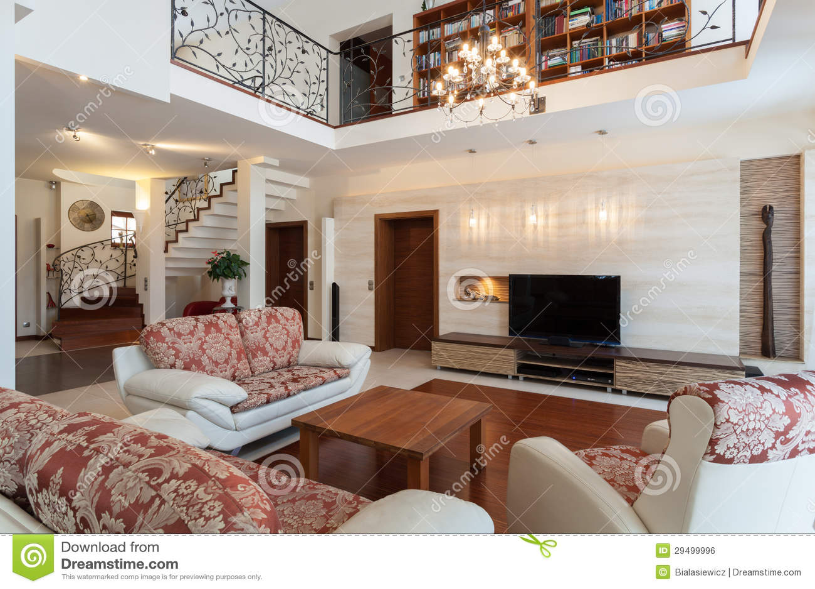 nobles haus - elegantes wohnzimmer lizenzfreies stockbild - bild, Wohnzimmer dekoo