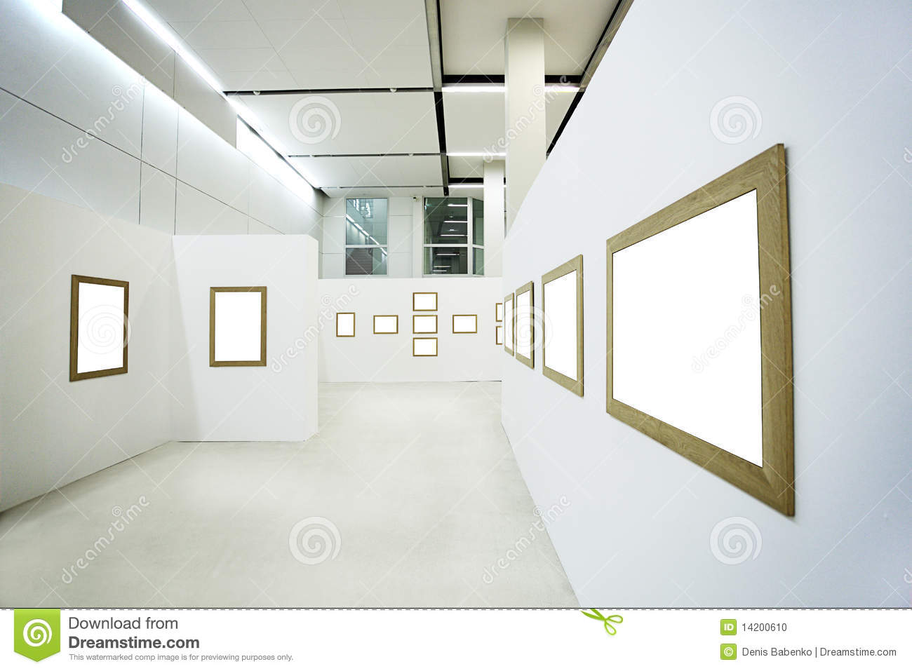 Nobody in the museum interior stock photo image of for Interieur design online