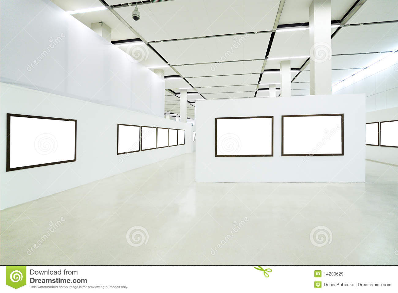 Nobody In The Museum Interior Stock Image Image Of