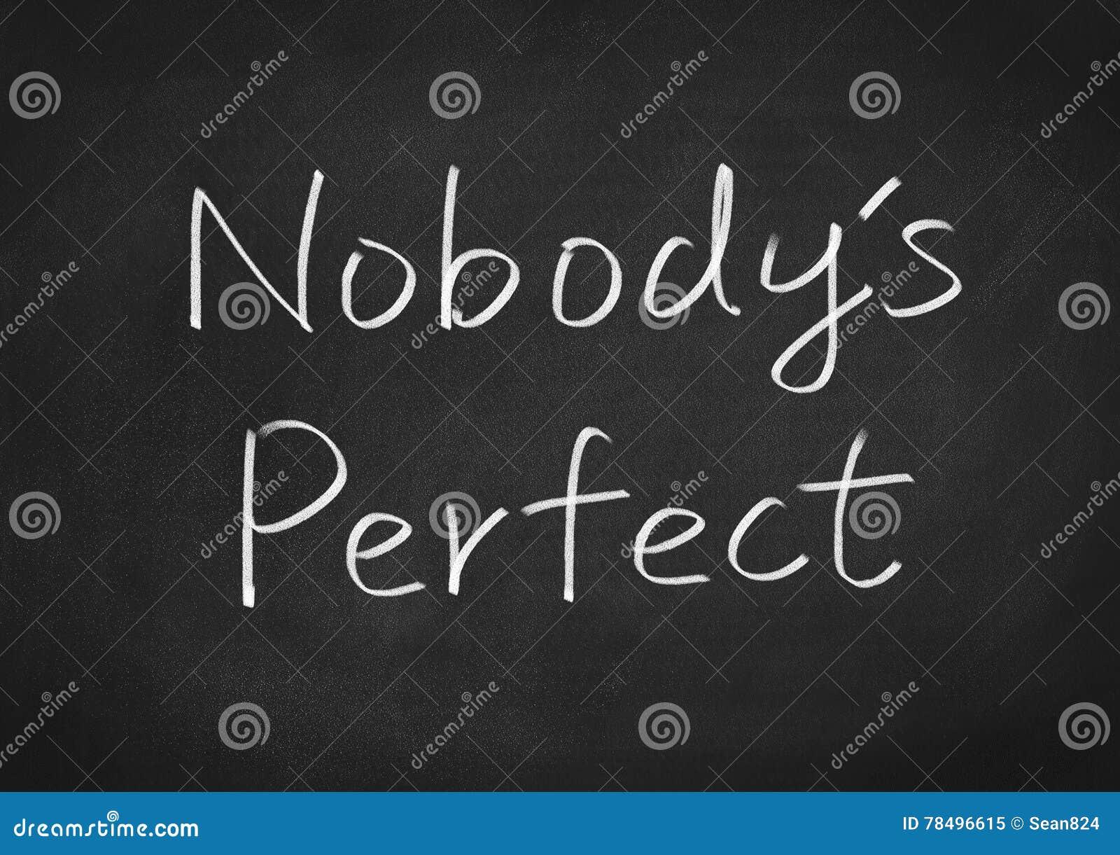 nobody 39 s perfect stock illustration image 78496615. Black Bedroom Furniture Sets. Home Design Ideas