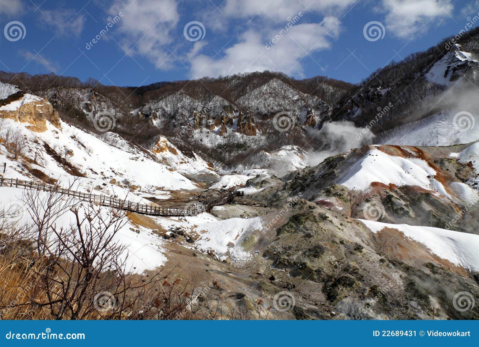 Noboribetsu Japan  city photos gallery : Noboribetsu Hot Springs, Hokkaido, Japan Stock Image Image: 22689431