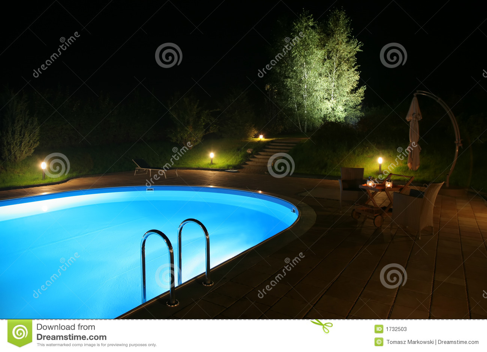 Noc 2 patio basenu