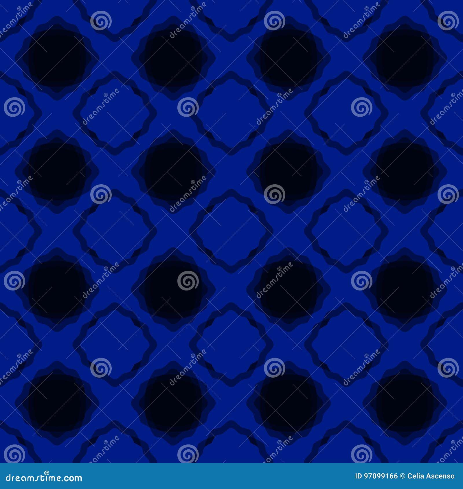 Noc Błękitni Bezszwowi kwadraty Tapetowi