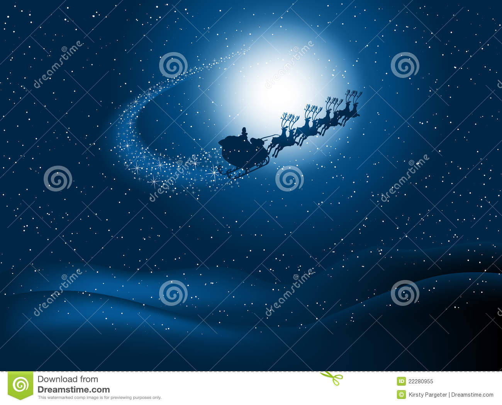 Noc Santa niebo