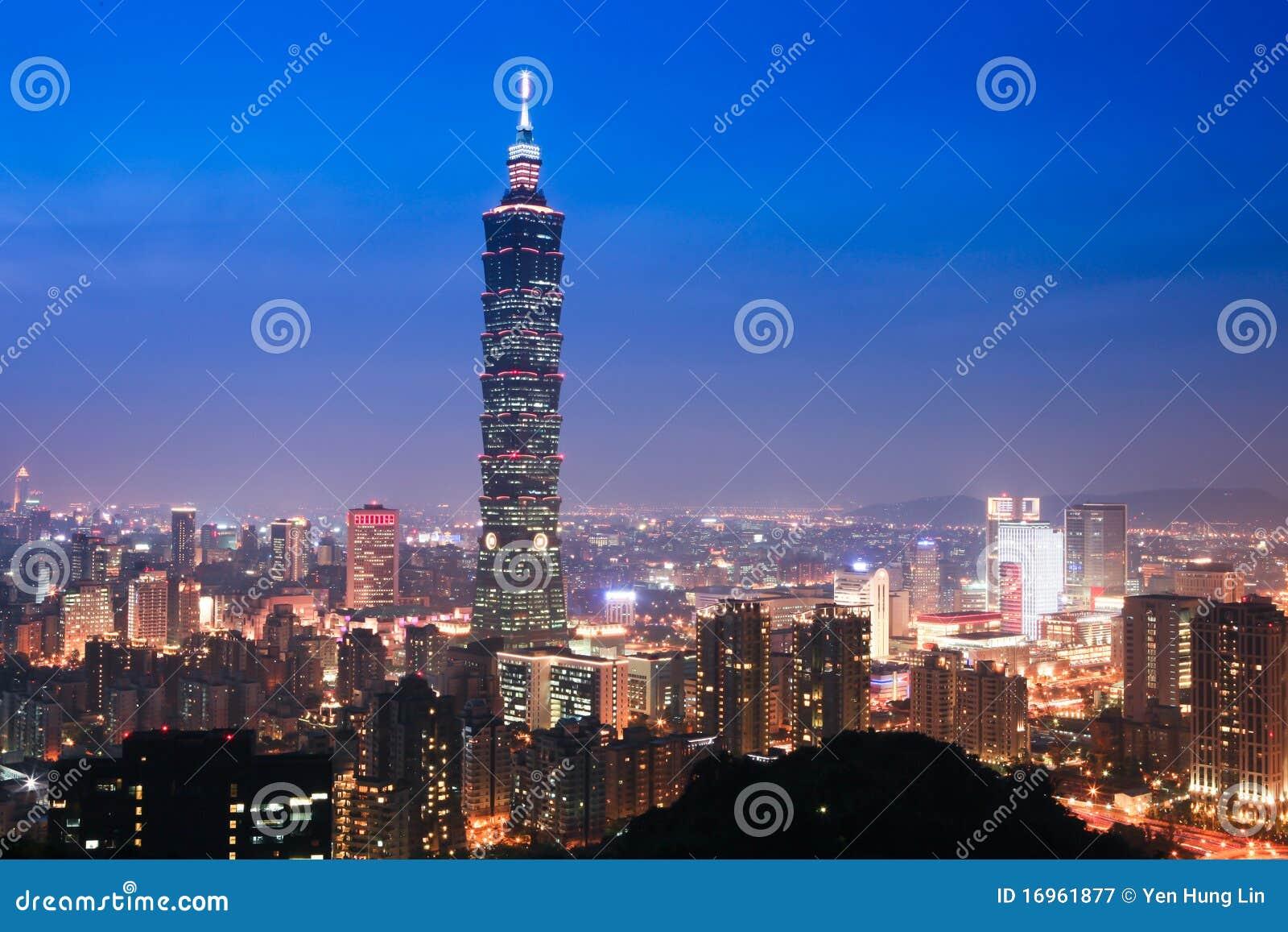 Noc scena Taipei Taiwan