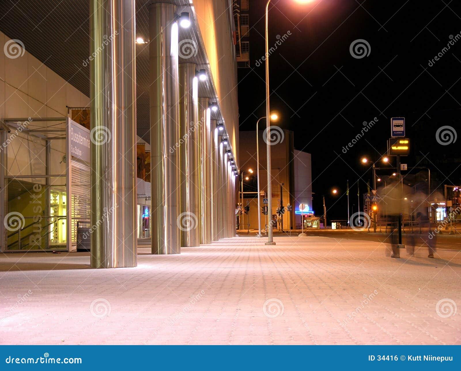 Noc ulice widok